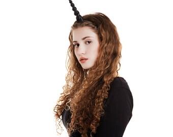Unicorn Horn Headband / Unicorn headdress headpiece / unicorn costume / realistic unicorn horn for adults / plastic glittery unicorn horn