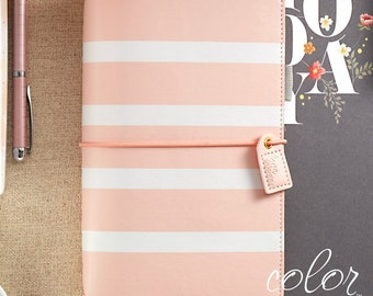 Webster's Pages Color Crush Travelers Notebook Blush Stripe