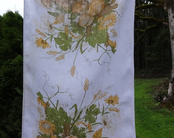 vintage linen tea towel