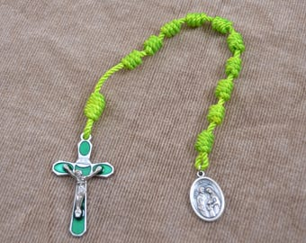 Holy Family Lime Green Single Rope Chaplet