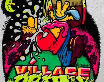 Village Drunk Vintage 1974 Holoubek Studios Iron On Heat Transfer