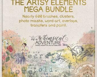Discount, Pack, Clip Art, Mega Pack, Deal, Savings, Artistic, Paint, Photoshop Brushes, Word Art, Mixed Media, Overlays, Digital Downloads