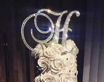 Custom Swarovski Crystal Cake Toppers signs by AllDesignsThatShine