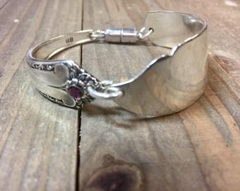 Butter Knife Bracelet . spoon bracelet, silverware jewelry, spoon jewelry,  knife bracelet, silver bracelet, silverware bracelet. OOAK brace