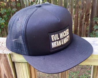 Handmade Evil Wicked Mean And Nasty Patch Hat