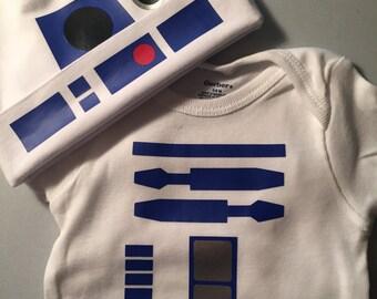 R2 D2 Bodysuit with Beanie
