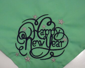 Happy New Year Dog Bandana