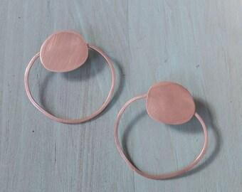 Sterling Silver hoop earrings, organic circles