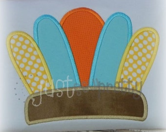 Indian Headdress Embroidery Applique Design