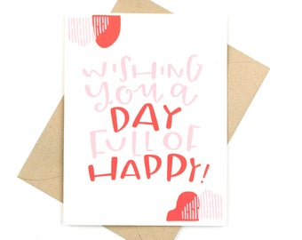 birthday card - day full of happy