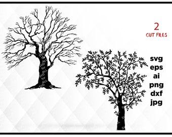 Tree SVG File, Tree Clipart, Tree Cut File, Tree life, Tree Cutting File, Tree Cricut, Tree Cameo, Tree Silhouette Svg, Tree Vector Svg