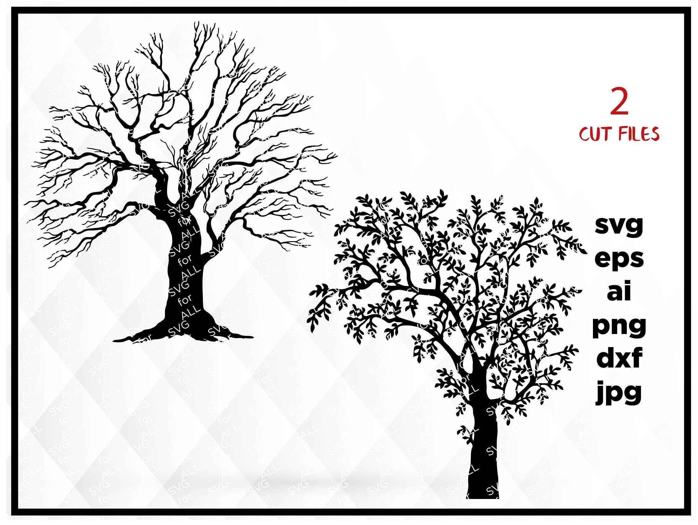Baum Baum Clipart Baum schneiden Datei SVG-Datei
