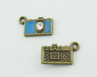 10pcs 15x9mm Camera Charms Jewelry Pendants Accessories LJ