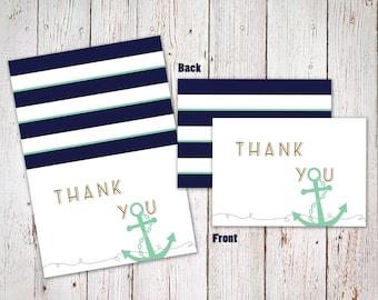 Nautical Thank You Cards/Notes