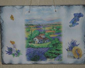 Slate theme table: Lavender landscape