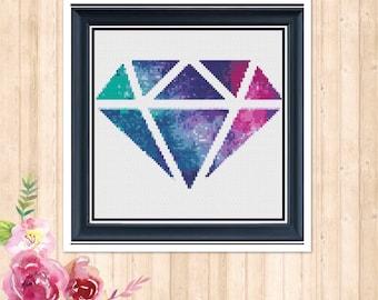 Galaxy Diamond Counted Cross Stitch Chart