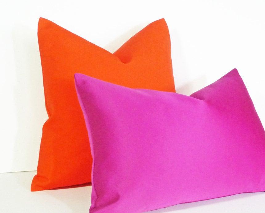 Vibrant Orange Pillow Bold Orange Cushions Bright Orange