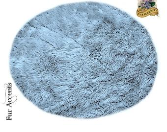 Classic Shag Rug - Large Round - Shaggy Faux Sheepskin Area Rug - Soft Luxury Faux Fur - Living Room - Kids Room - Dining Room - Nursery