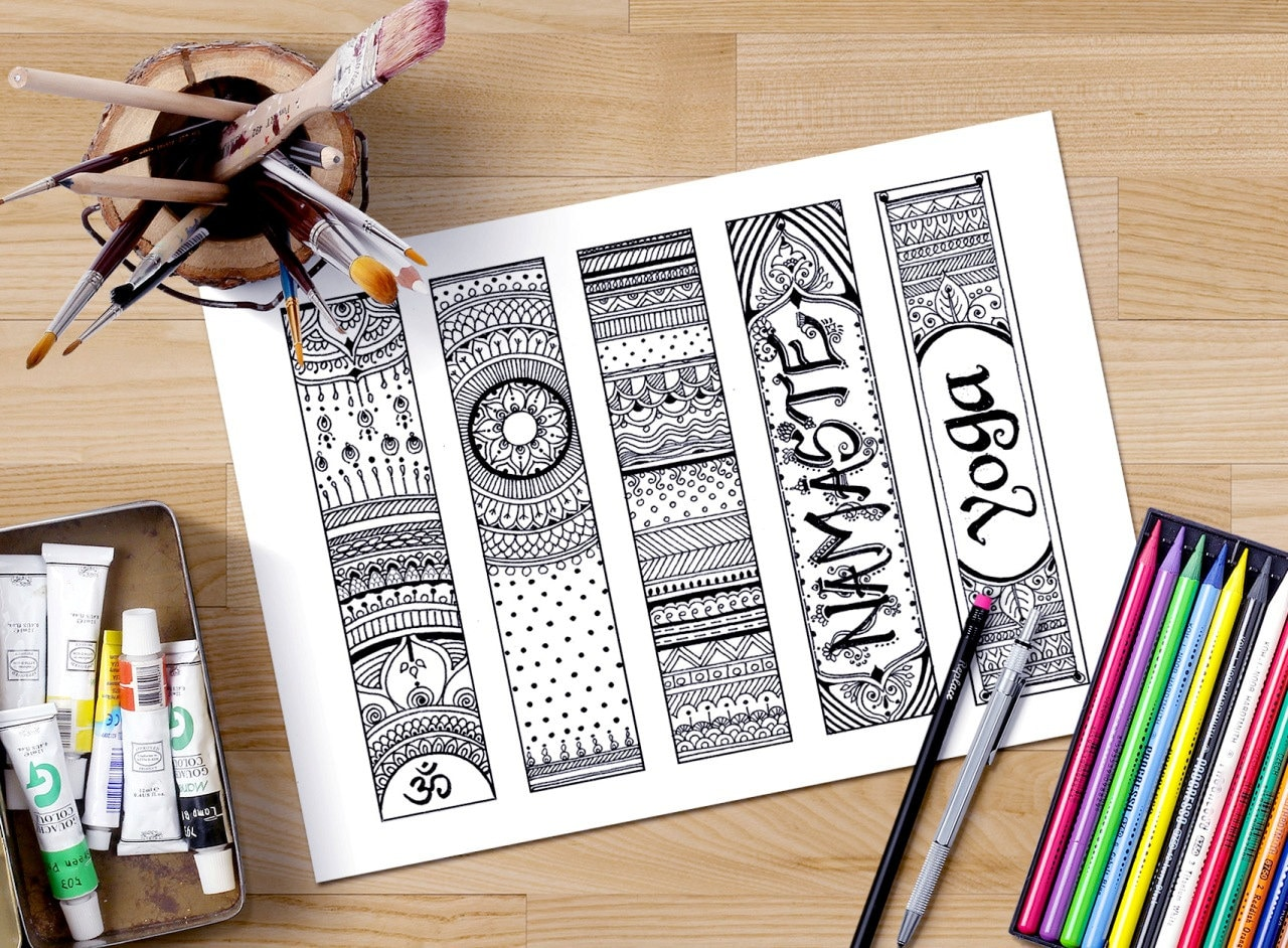 Printable Bookmarks Coloring Om Zendoodle