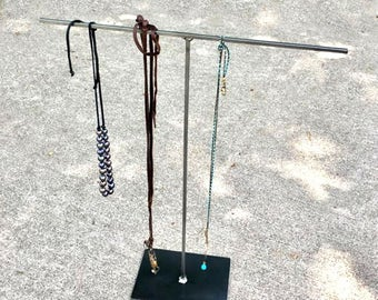 T-STAND Jewelry Display in Natural Metal Steel