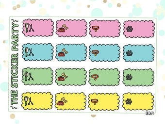 Dog Owner/Dog Care Planner Stickers