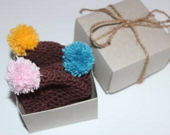 Easter gift  3 knitted hats eggs, knit hats for decor, knit egg warmers, knit egg cosy, gift easter eggs, crochet egg cozy, easter decor egg