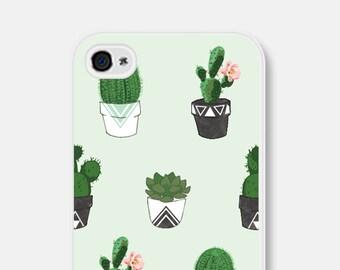 Succulent iPhone 6 Case - Cactus iPhone 5 Case - Geometric iPhone 5 Case - Mint iPhone 6 Case - Cactus iPhone 5c Case - Cactus Phone Case