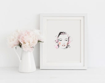 Printable Wall Art Marilyn Monroe instant download