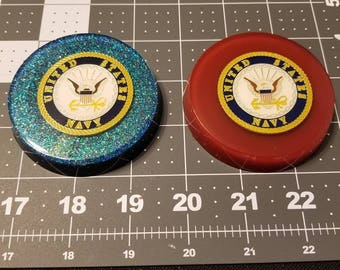 Custom U.S. Military Paperweight: Navy, Marines, Army, Airforce