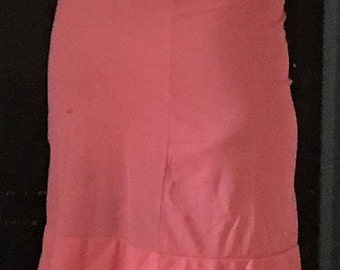 Coral pink nylon slip from the 80's.