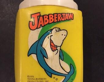 Jabberjaw cartoon lunchbox thermos 1976