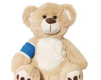 Dark Blue Cast Broken Arm Higgy Bear