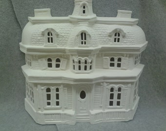 Ceramic Haunted House Bisque (unfinished)