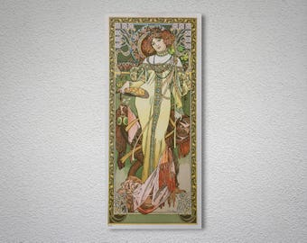 Autumne 1900, by Alphonse Mucha Fine Art Print  - Poster Paper, Sticker or Canvas Print / Gift Idea