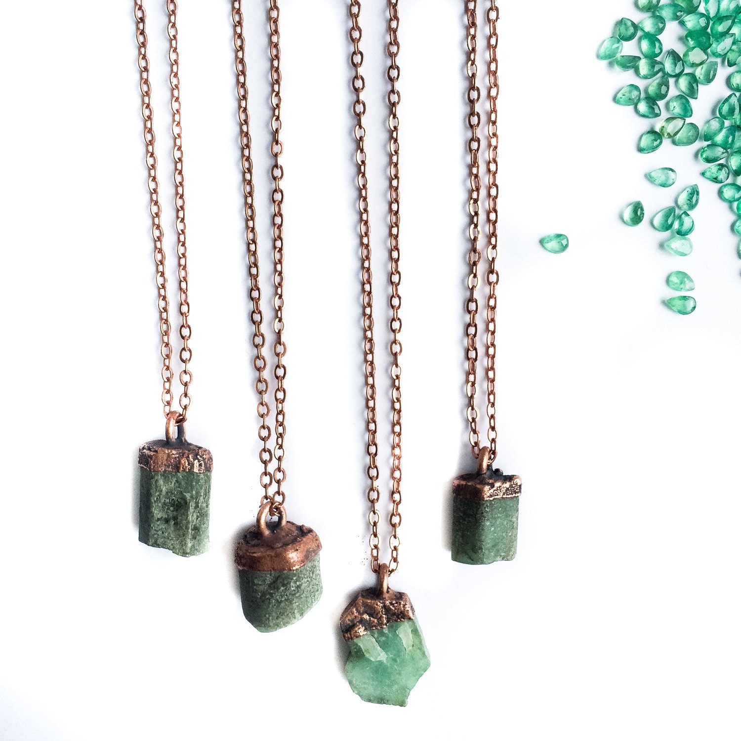 silver sterling necklace pendant crystals healing products emerald solid atperrys