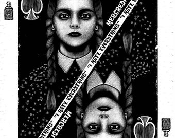 POSTER WEDNESDAY ADDAMS