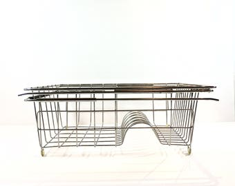 Dish Drying Rack Stainless Steel Adjustable Over The Sink and Freestanding Portable Farmhouse Dish Dryer Drainer