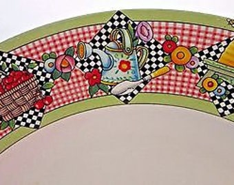 Mary Engelbreit Garden Time Dinner Plate