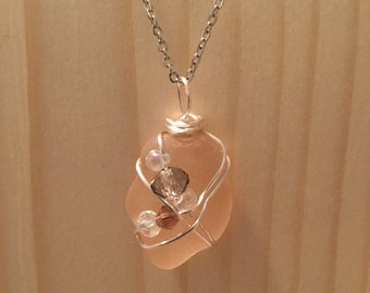 Petite Pink Sea Glass Necklace