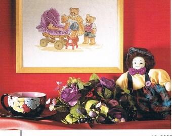 Permin Of Copenhagen Cross Stitch Kit - New Baby Bear