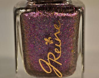 Showstoppa - Pink, Purple, Blue, Gold Ultra Multichrome Color Shifting Flakie Nail Polish