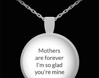 Mother Pendant Necklace Gift Mothers are Forever