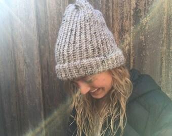 Slouchy knit beanie
