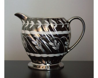 Silver Lusterware Pitcher
