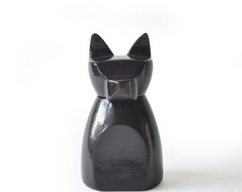 Small Anubis Dog Urn- Gloss Black