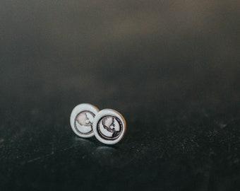 Sterling Silver Earth Stud Earrings