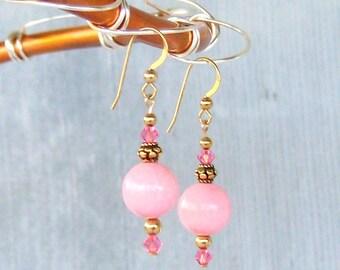 very pink earrings
