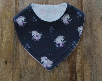 Magical unicorn baby bib / baby shower gift  / baby girl bibs / organic cotton bib / bamboo bib /