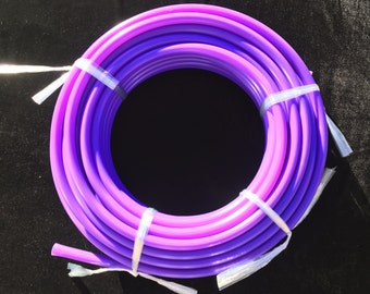 3/4 or 5/8 UV Amethyst Polypro Coil - 10ft, 50ft, 100ft Coil -Black Light Reactive- Hula Hoop Supplies