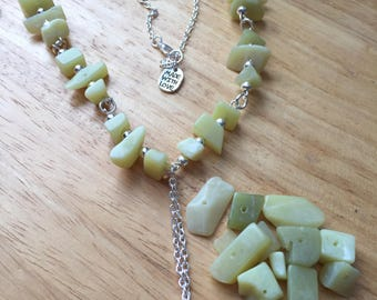 Olive new jade necklace love hope faith